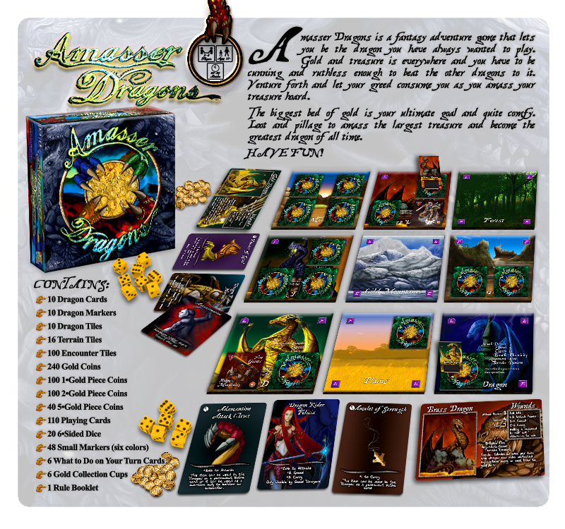Custom Fantasy Adventure Game: Amasser Dragons