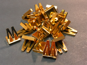 Gold Metallic Foil Game Pieces