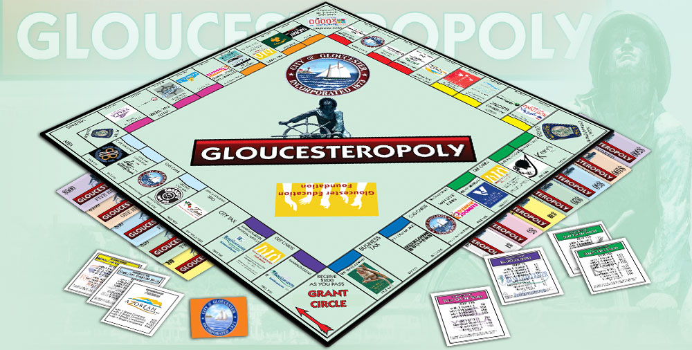 Custom Monopoly Game Manufacturer Publisher: Gloucester-opoly Monopoly game